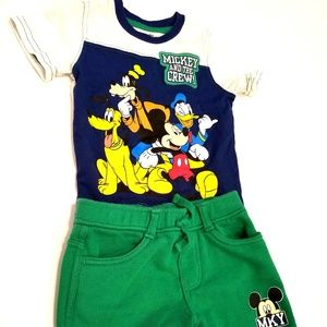 Disney Brand Mickey 12 month Outfit Shorts & Shirt
